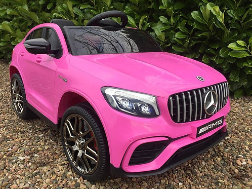 Licensed Mercedes GLC63S AMG 12V Kids Ride on Car with Remote - Pink