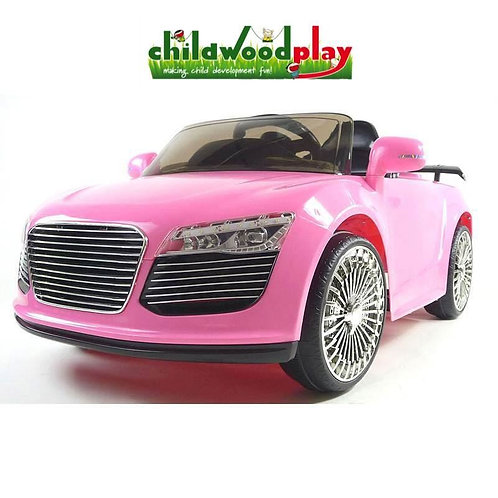 Audi Style 12v Kids Ride on Car with two speed and Remote - Pink