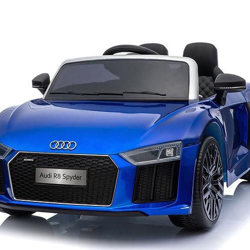 Licensed Audi R8 Spyder 12v Kids Ride on Electric Car with Remote - Blue