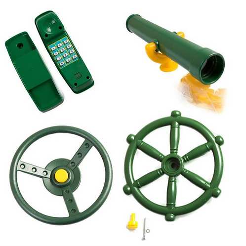 Bundle Deal - Telescope, Steering Wheel, Telephone, Pirates Wheel