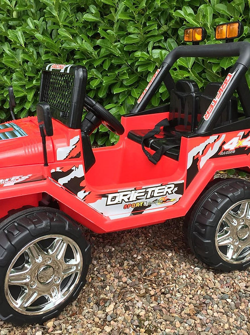 Kids Electric Jeep. 4x4 ride on for kids in RED