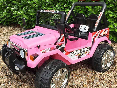 Kids Electric Jeep. 4x4 ride on for kids in Pink