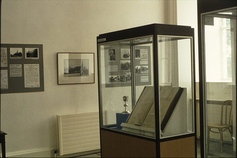 Exhibition: one corner of exhibition.  5/5/88