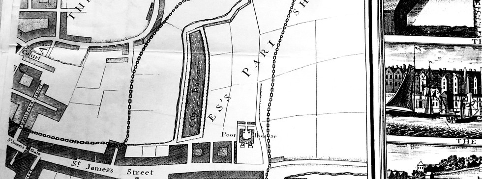 Extract from Survey Map by Charles Brooking 1728