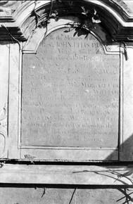 Mural tablet commemorating Rev. Dr. John Ellis.
