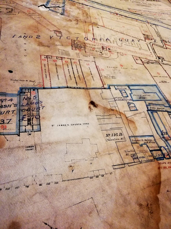 Technical Drawing for St James's Gate Brewery 1913