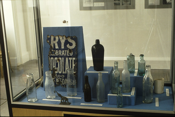 Exhibition: bottles and other late finds.  5/5/88
