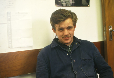 George Cully (in the Portakabin). 28/1/88