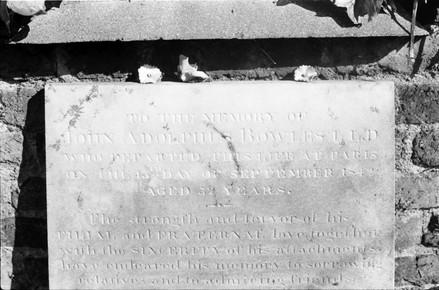 Mural tablet commemorating Dr John Adolphus Rowles