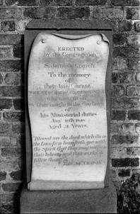 Mural tablet commemorating the Rev. Richard Conolly