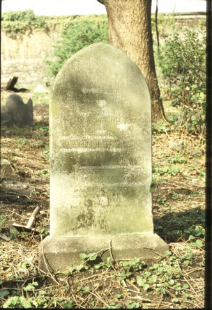simple late 19th-century headstone (W. Carter 1875).  5/5/88