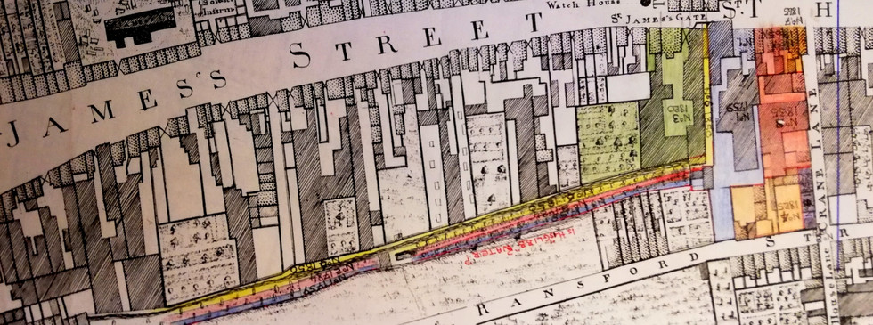 Extract from Rocque Map 1756
