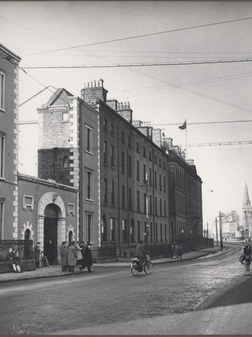 View along James's Street past Front Gate to St. James's Gate Brewery, 1948
