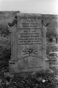 Headstone of Kate and Robert Nelson