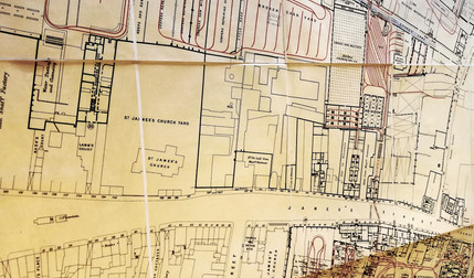 Technical Drawing for St James's Gate Brewery 1924