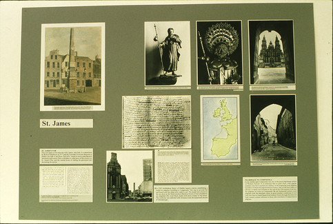 Exhibition: one of the wall displays.  5/5/88