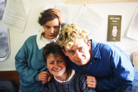 Gina Cahill, Cathy Quinn and Terry Waldron. 23/3/88