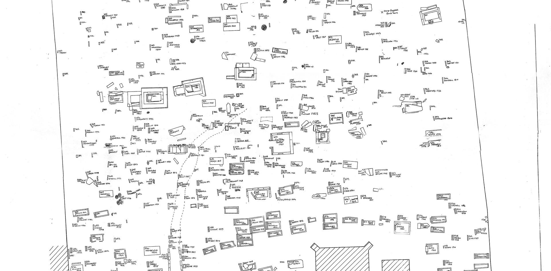 St James's Graveyard - Gravestone Mapping