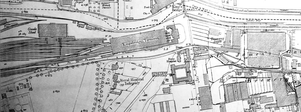 Extract from OS Map City of Dublin 1847