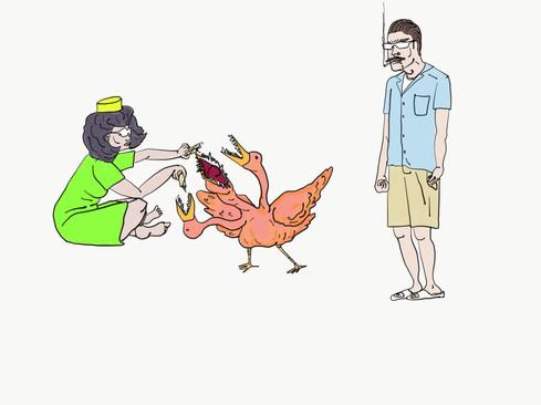 Ruff Bird World illustration 2019