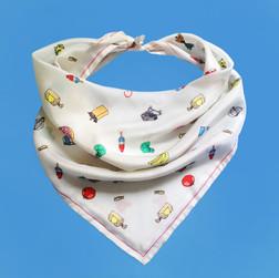 Groceries silk scarf