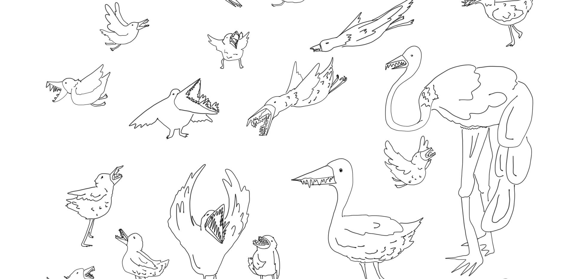 Many Toothy Birds