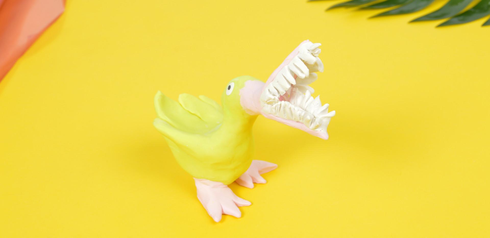 Birds with Teeth Study. Yellow Guy.