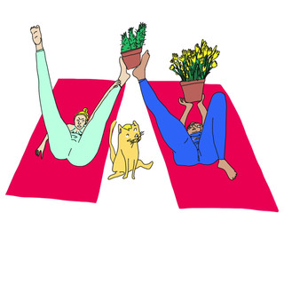 Houseplant Yoga animation