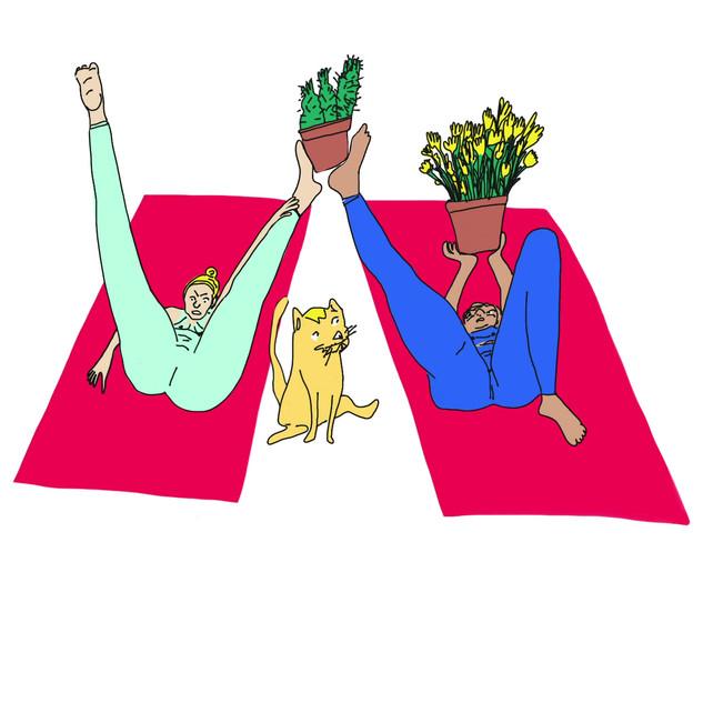 Houseplant Yoga animation