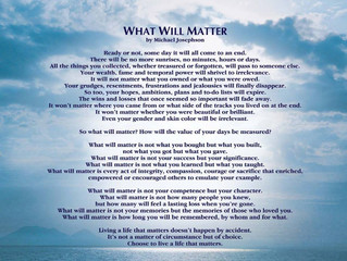 What Will Matter for 2016 and Beyond