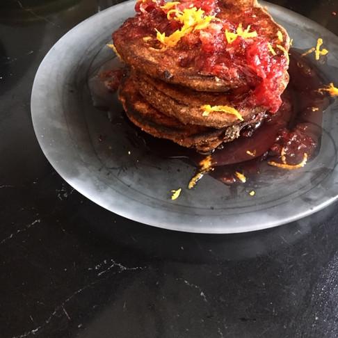 Buckwheat Pancake with Blood Orange Sauce