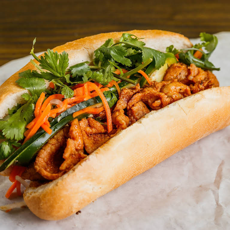 Spicy Pork Sandwich