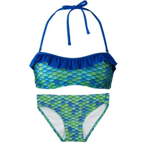 Youth Aussie Green Bandeau Bikini