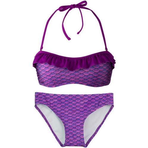 Adult Asian Magenta Bandeau Bikini