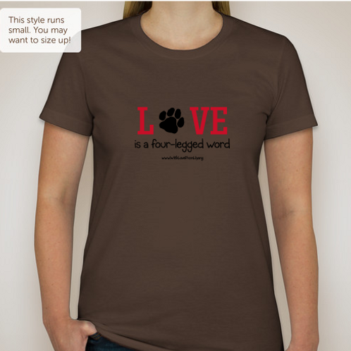 Love Is A Four Legged Word - Coffee Ladies Medium
