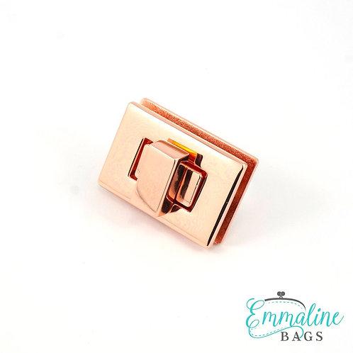Rectangular Bag Lock - Gunmetal, Nickel, Copper, Gold - Emmaline Bags