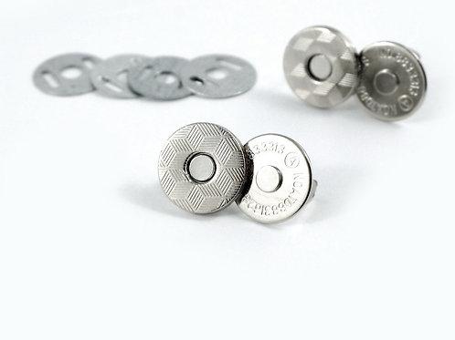 "Magnetic Snap: 9/16""(14mm) SLIM-Nickel, Antique Brass-(2 Pack) - Emmaline Bags"
