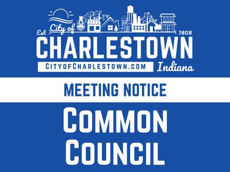 Charlestown City Council Meeting - Thursday, Sept. 9, 2021, 6:30 p.m.