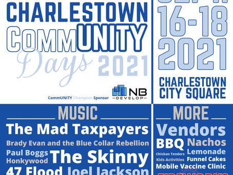 CommUNITY Days 2021 - Music, Food, Fireworks - Charlestown City Square
