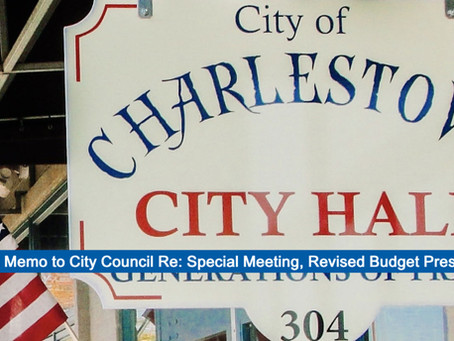 Mayor Hodges Memo to City Council Re: Calling of Special Meeting for Revised Budget Presentation