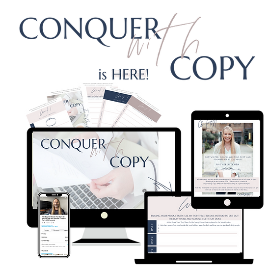 Conquer With Copy Instagram Feed Graphic