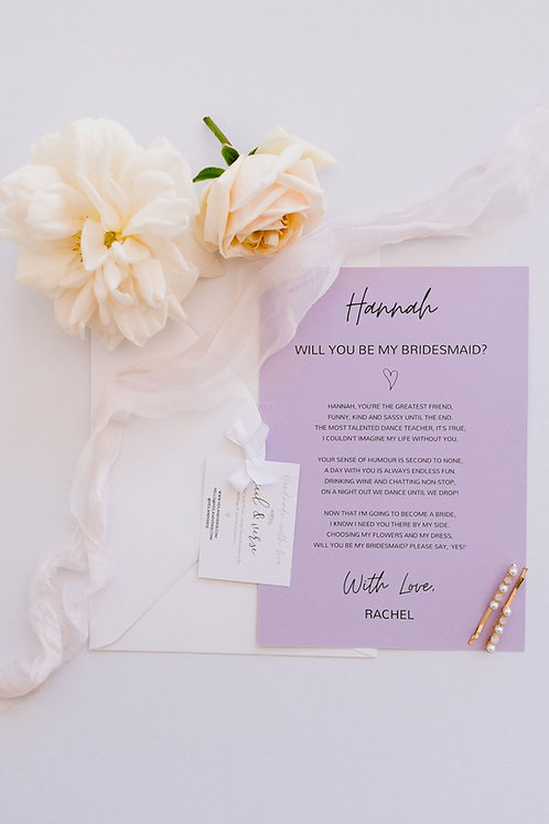 Luxury Personalised Keepsake Card