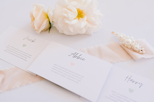 Favour Poems For Each Guest