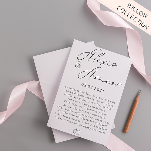 Bespoke Poetry Invitation