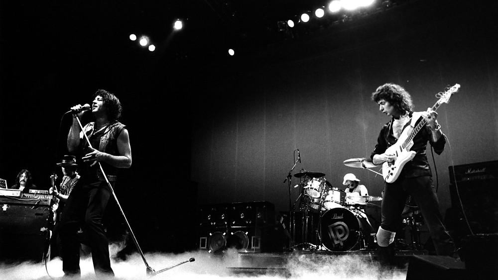 Deep Purple during Perfect Strangers Tour