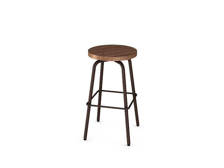 Button - Wooden Swivel Stool
