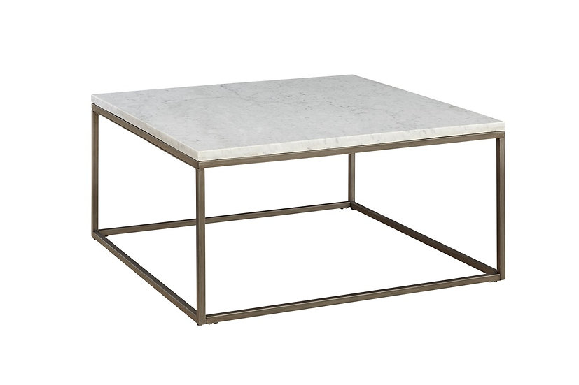 Julien - Square White Marble Coffee Table