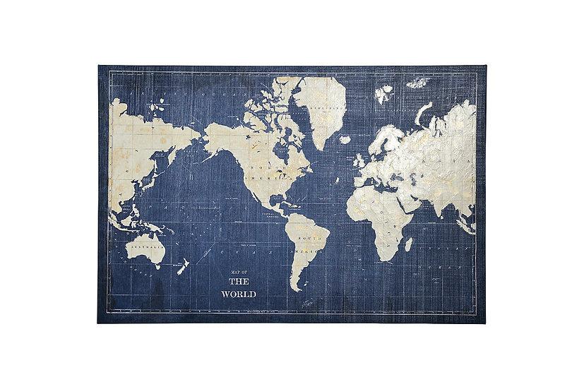 World Map Blueprint - Wall Art