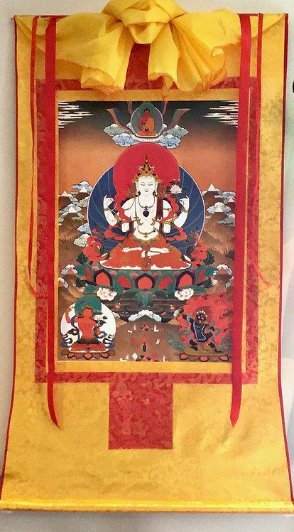 CHENREZIG THANGKA (Avalokiteshvara)