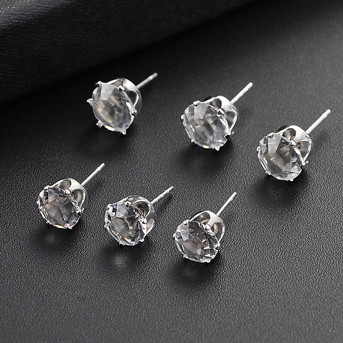 HQ Zircon 3mm Stud (Stainless Steal) Pair